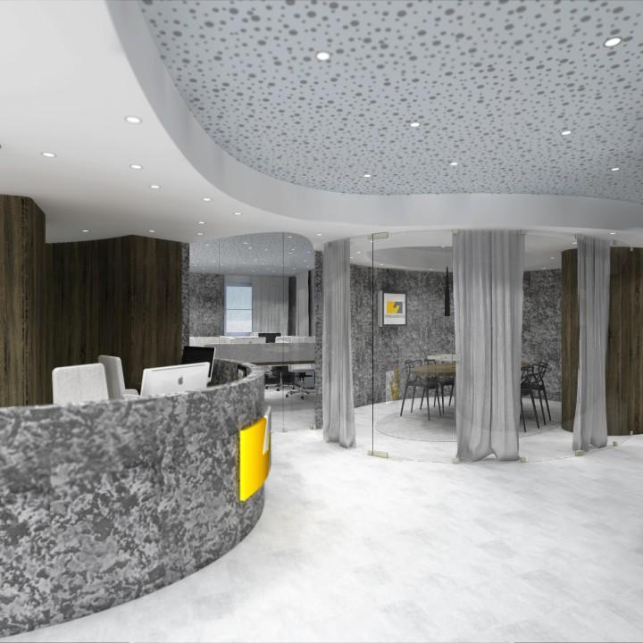 Návrh kancelářských prostor firmy, Brno