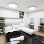 navrh interieru maleho bytu noc