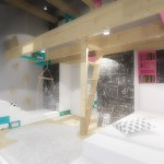 navrh interieru detskeho pokoje pro sourozence praha architekt
