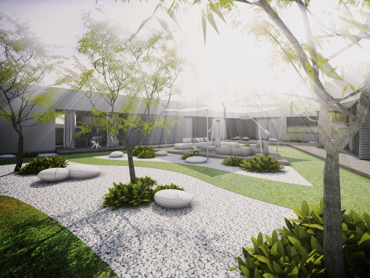 moderni zahrada zahrady zahradni architektura architekt architektka architekti navrh navrhy studie design designovy vizualizace posezeni venkovni venek exterier exterieru exterierovy kryte kryta kryty nadcasovy unikatni napadity napadite nadcasove zelen zelene