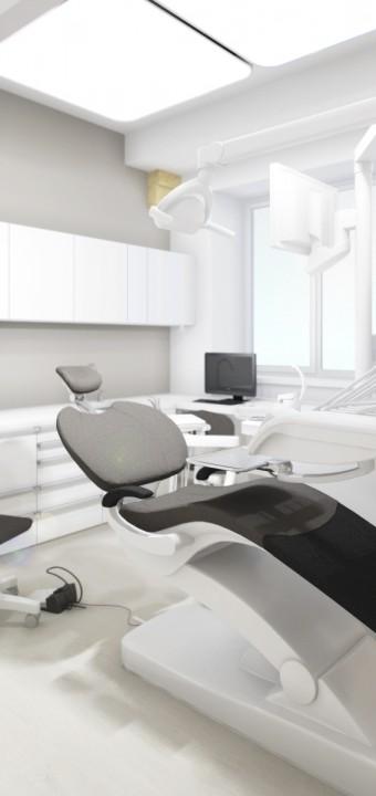Studie interiéru ordinace zubního lékaře, Praha