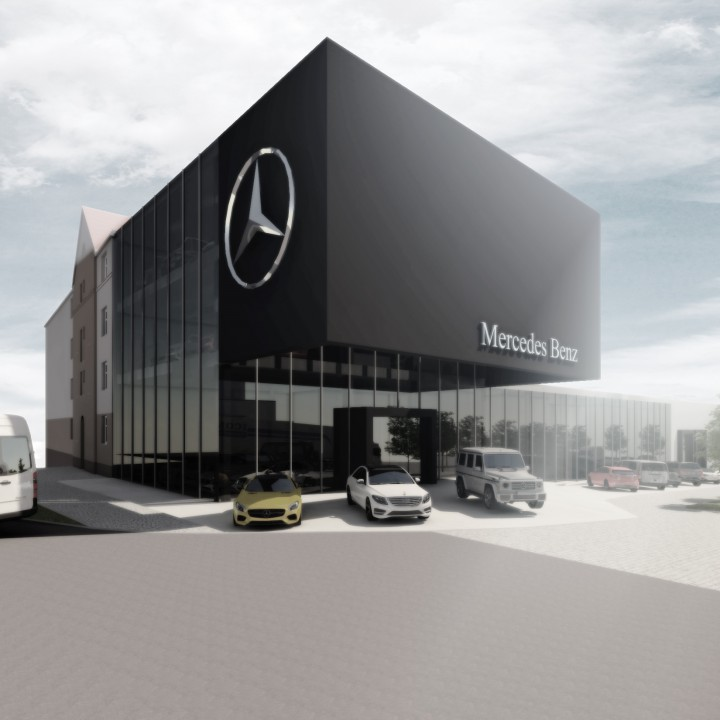 Studie showroomu Mercedes-Benz