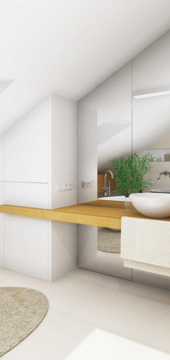 Návrh interiéru koupelny a toalety, Jihlava