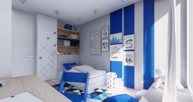 Návrhu interiéru chlapeckého dětského pokoje, Ostrava