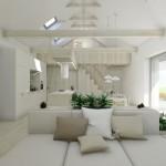 interiér společenské zóny rodinného domu