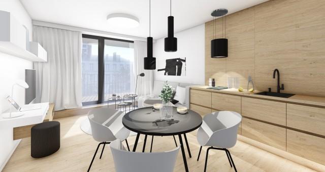 Návrh společenské části bytu, Brno